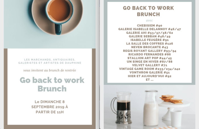 Invitation: Paris Flea Market Go Back To Work Brunch
