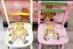 熊 ベアー アンティークチェア 椅子 子供用 座部