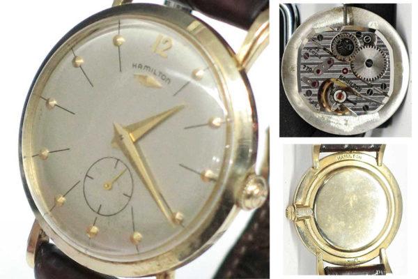 米国ハミルトン製14K金無垢腕時計ブランフォード