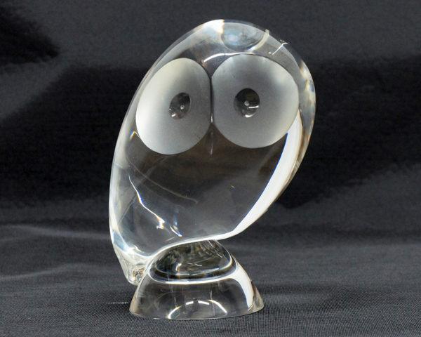 スチューベン STEUBEN GLASS クリスタルガラス ハンド・クーラー hand cooler ふくろう