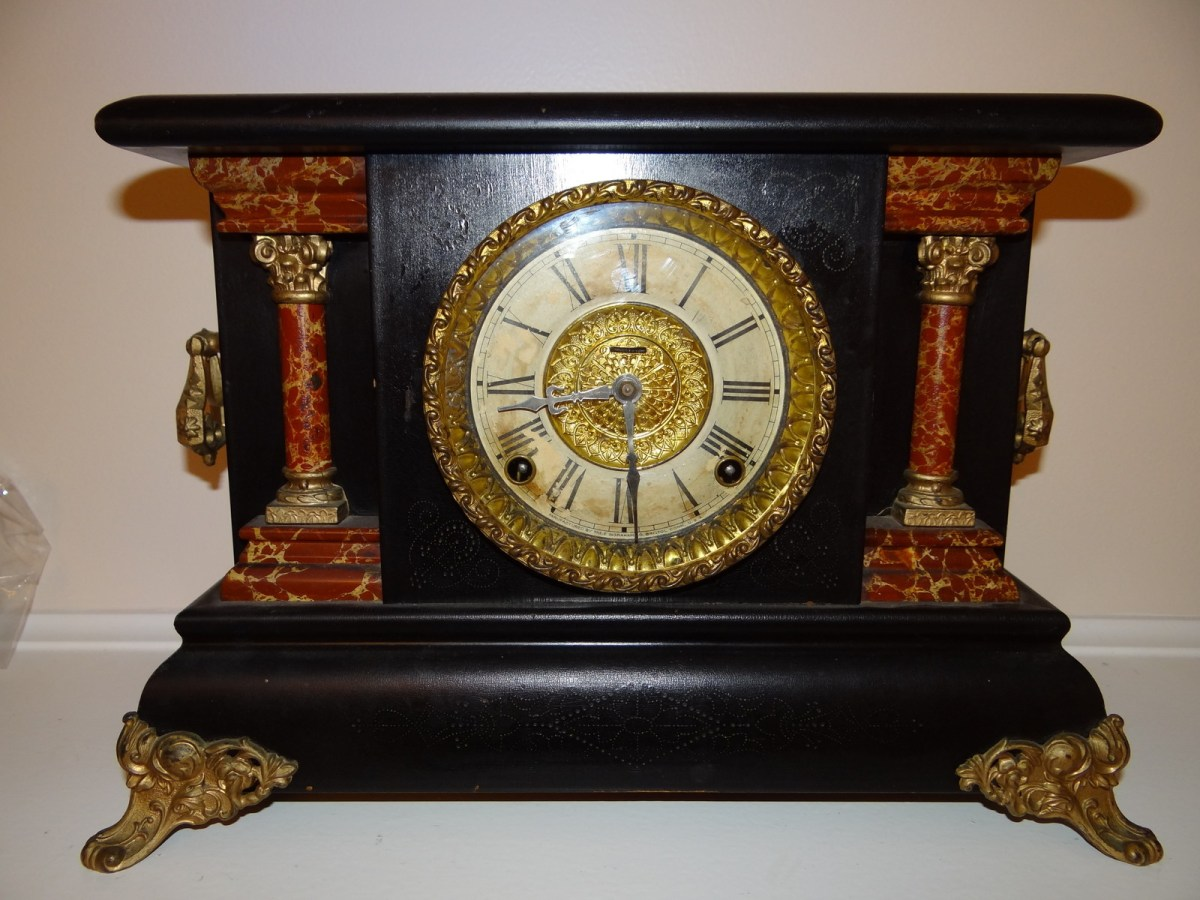Antique e ingraham co wood mantel clock antiques of for Antiques and collectibles for sale