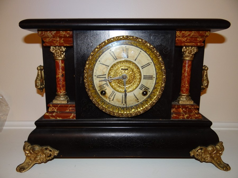 Rare antique carved wood ingraham clock antiques of for Antiques and collectibles for sale