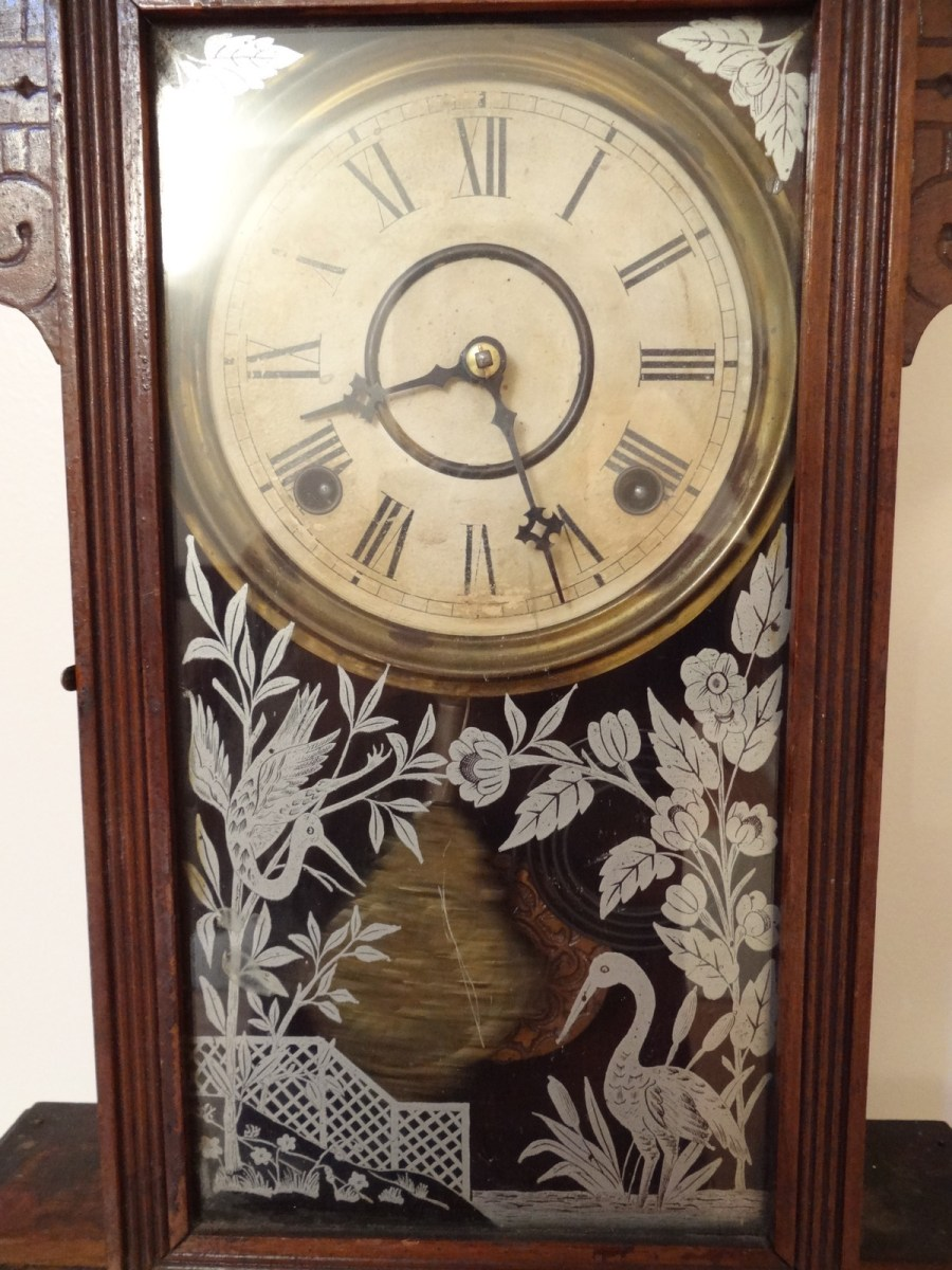 Antique william lewis gilbert mantle clock 2 antiques for Antiques and collectibles for sale