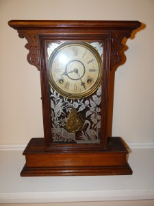 Antique William Lewis Gilbert Mantle Clock