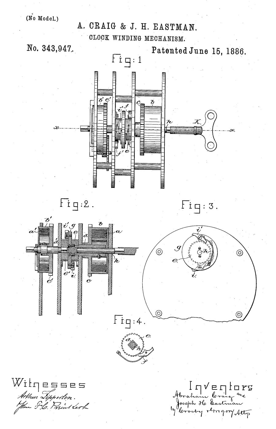 In 1886, the Boston Clock Company, patented the famous tandem wind striking movement.