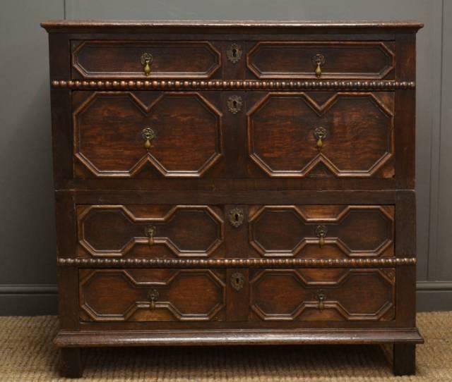 Early Period Antique Furniture Oak Chest