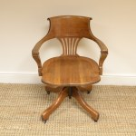Golden Oak Antique Victorian Swivel Office Chair Antiques World