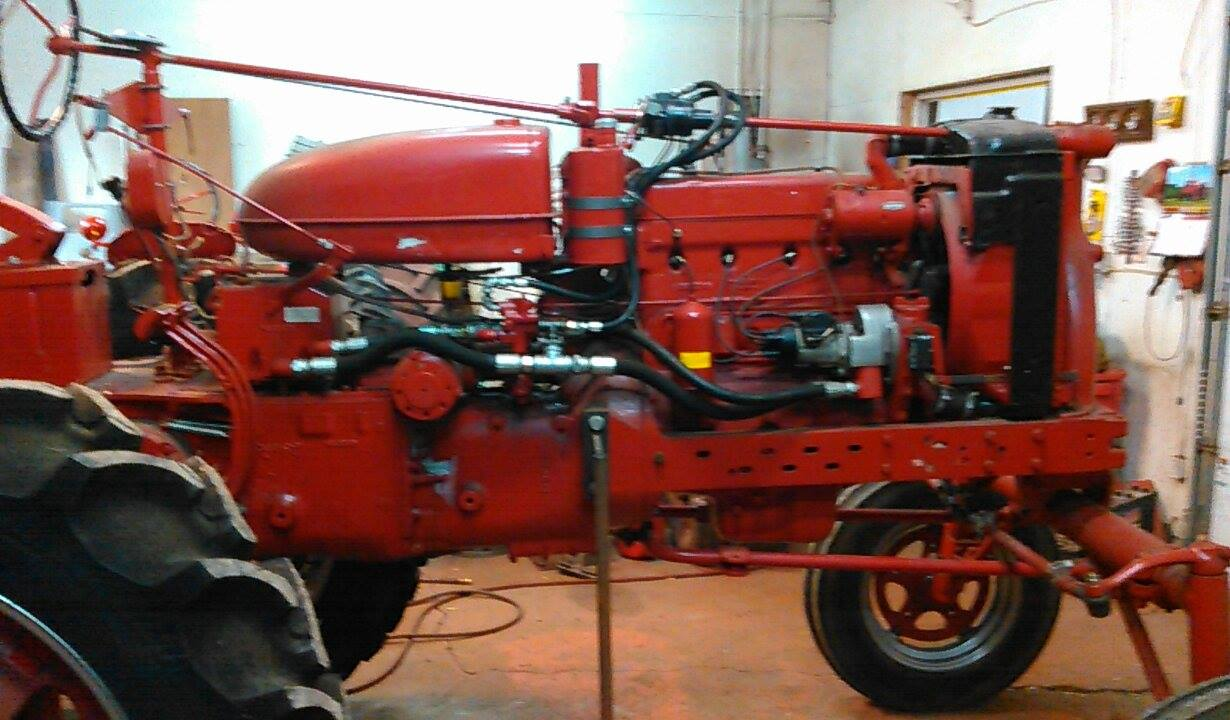 Farmall M Hood : Farmall super mvta restoration antique tractor