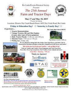 CA - Rio Linda Farm & Tractor Days @ Dry Creek Ranch House