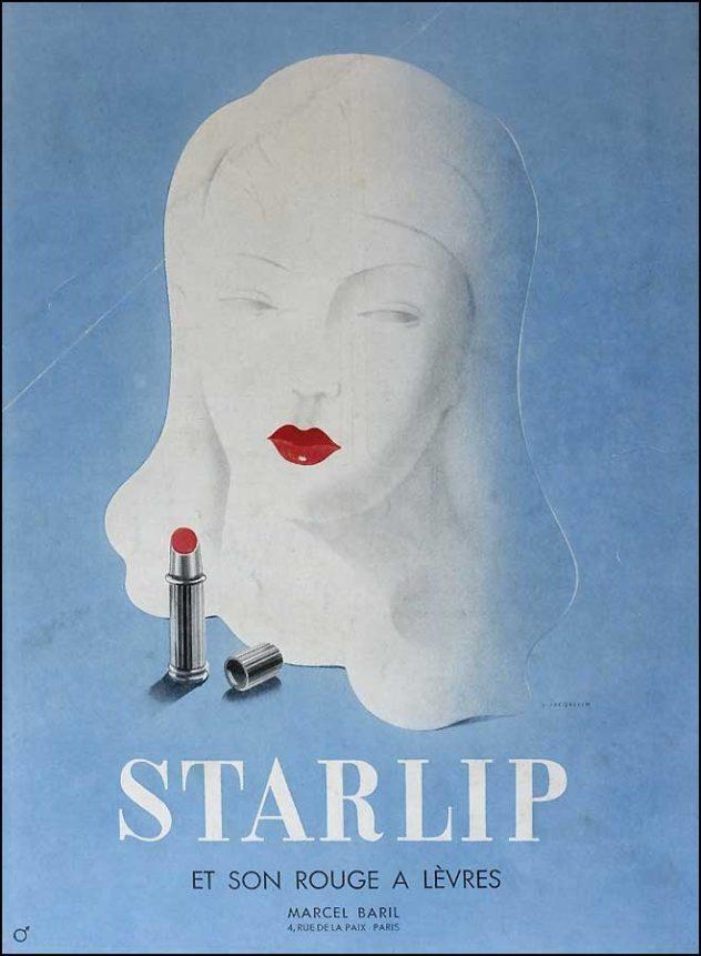 Publicité Starlip rouge à lèvre