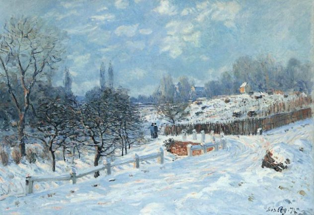 alfred sisley neige a louvecienne