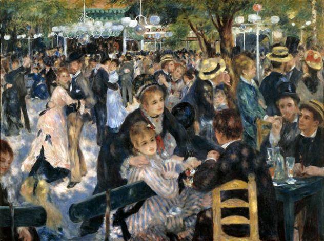 Auguste Renoir : le bal du moulin de la galette, 1876
