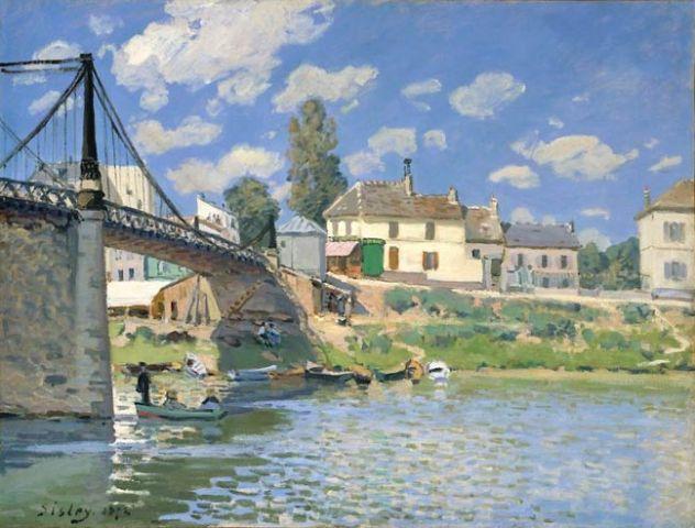 Pont de Villeneuve-la-Garenne alfred Sisley