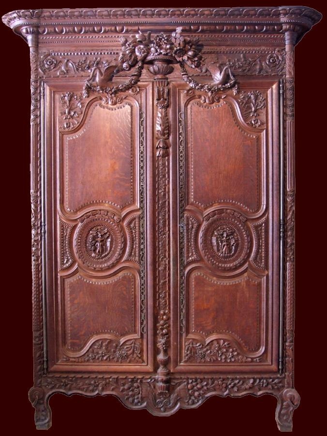 exceptionnelle armoire normande de mariage