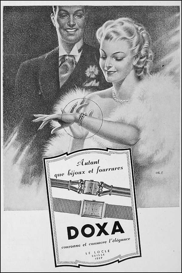 Affiche publicitaire Doxa