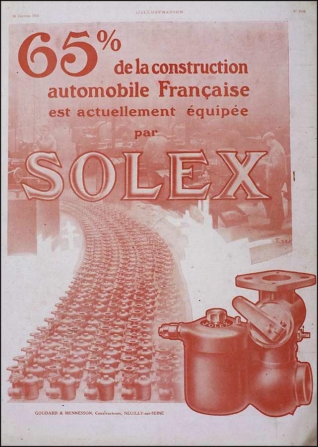 Affiche publicitaire Solex