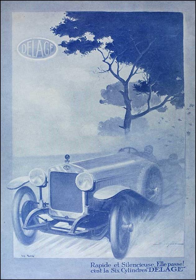 affiche voiture delage