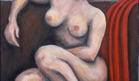 Huile femme nue