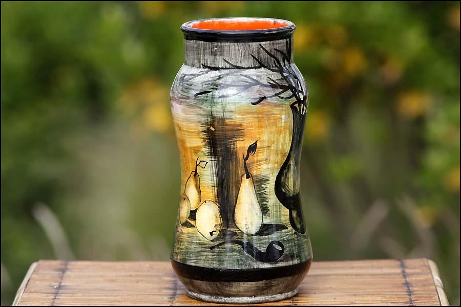 Vase peint vintage 1970