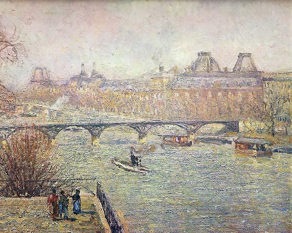 Camille Pissarro vue de la seine à Paris