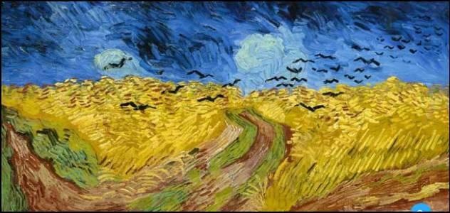 Champ de blé aux corbeaux
