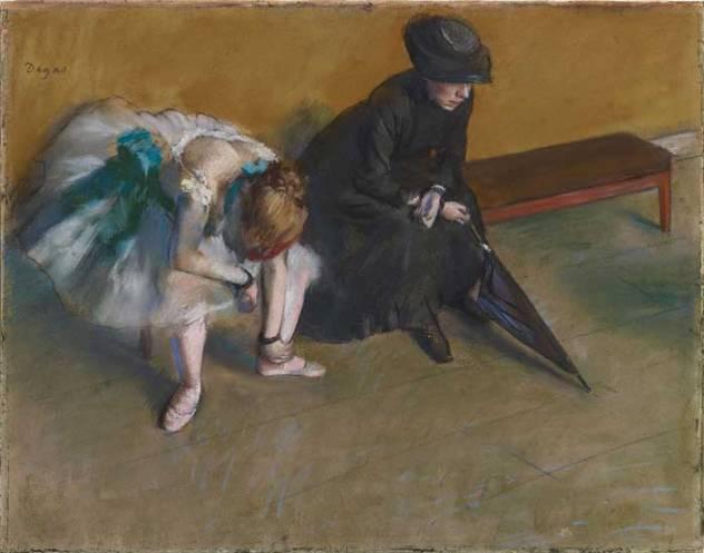 l'attente de la danseuse