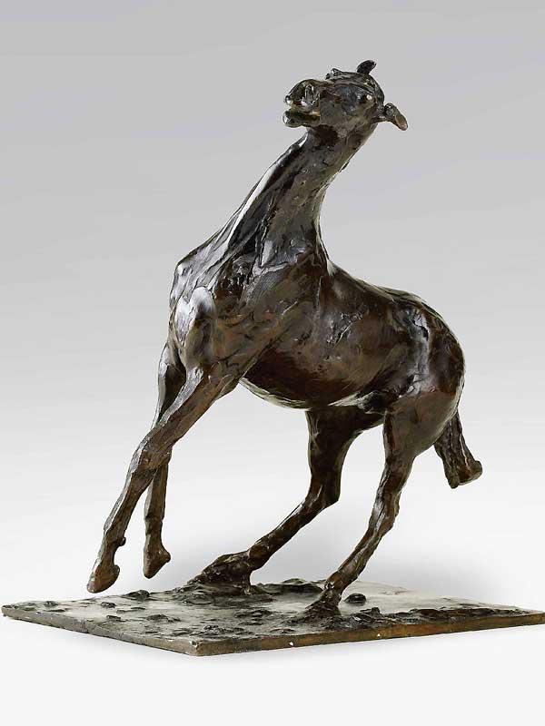 Sculpture Cheval se cabrant