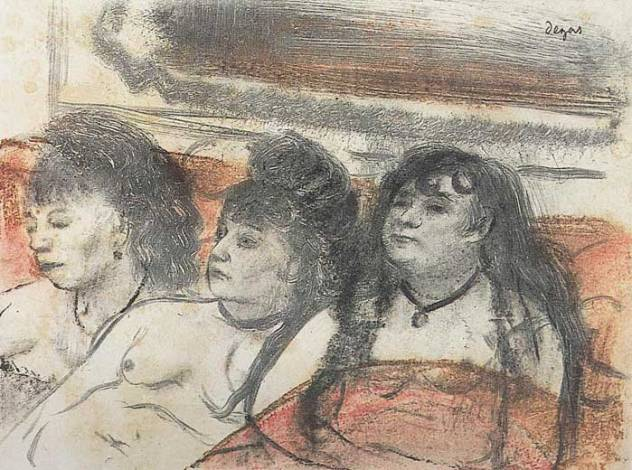 trois prostituees sur un canape