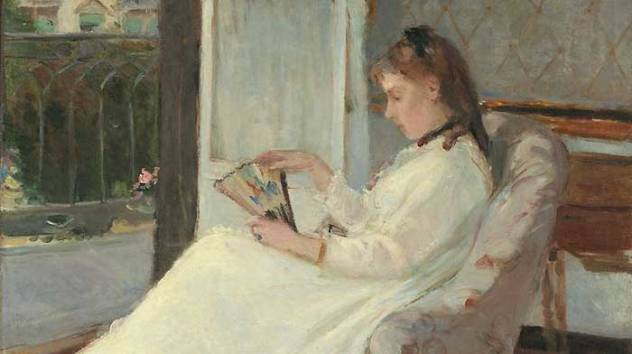 berthe morisot jeune femme a sa fenêtre madame pontillon