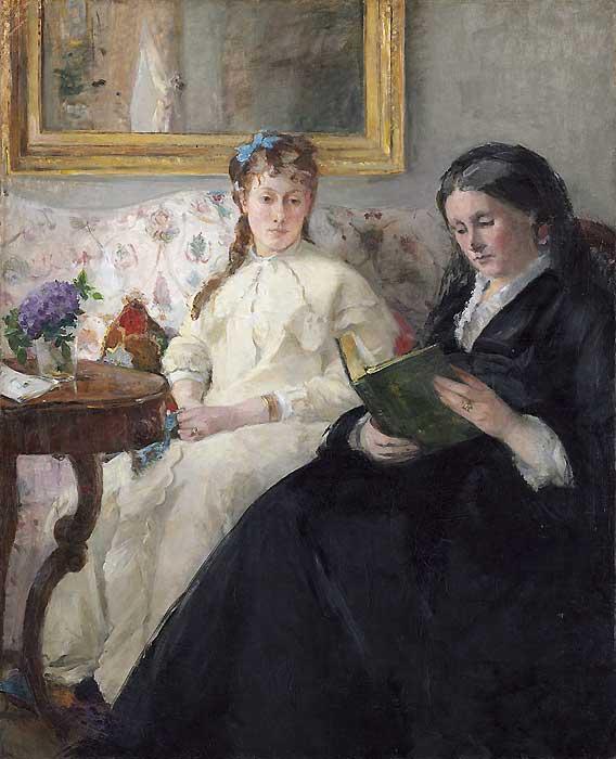 La lecture peinture exposée au Salon des Beaux-arts de 1870