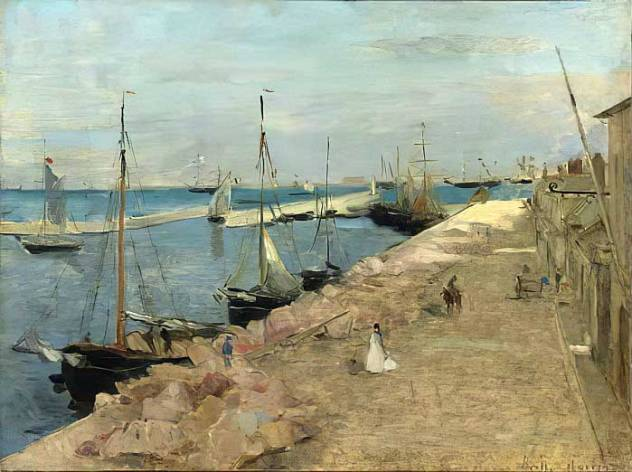 Berthe Morisot le Port de Cherbourg