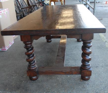 anglais rustique table refectoire avec de l orge twist jambes