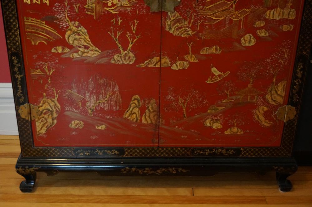 Armoire Motifs Chinois Antiquits Deschambault