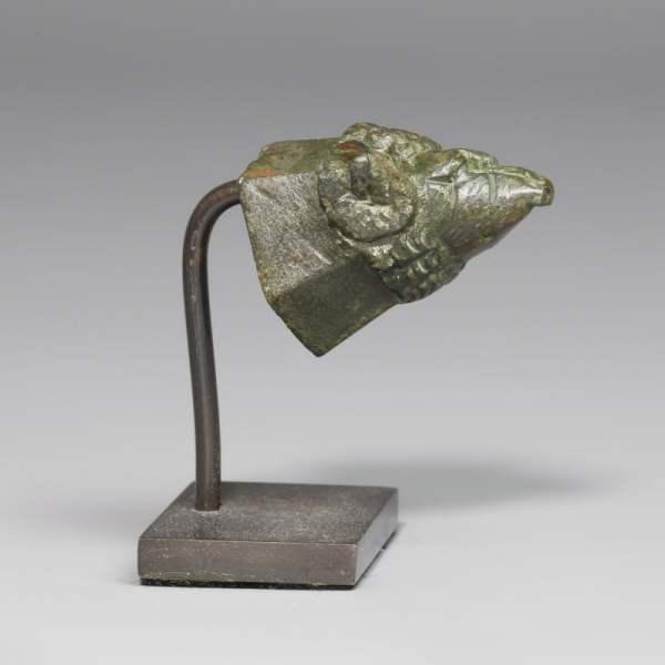Roman Bronze Ram Finial