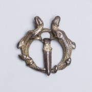 Norman Gilt Romanesque Buckle Brooch with Lizards