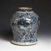Provincial Blue and White Baluster Jar