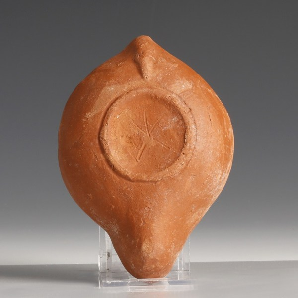 Roman Redware Lamp with Serapis