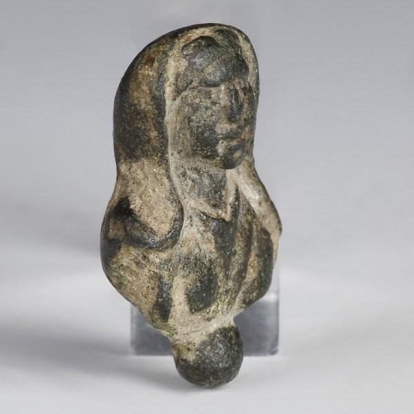 Lead Veiled Female Bust