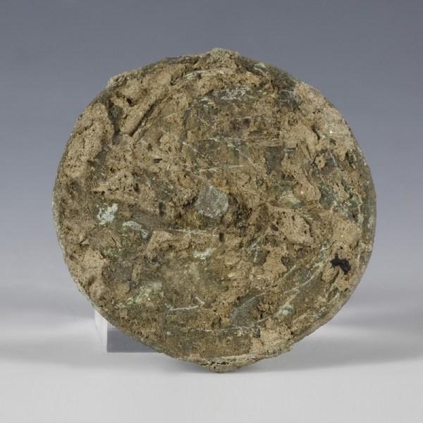 Roman Bronze Disc With Millefiori Decoration