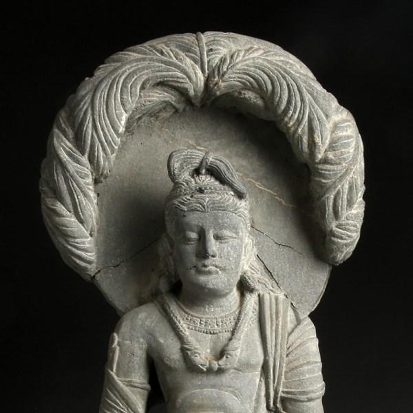 Gandhara Stone Statue of a Bodhisattva