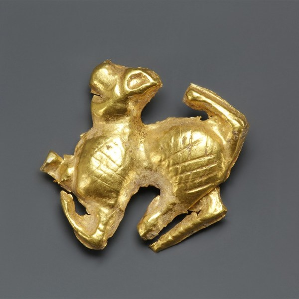 Bronze Age Scythian Gold Zoomorphic Mount