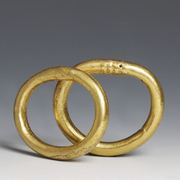Greek Gold Bracelet Pair