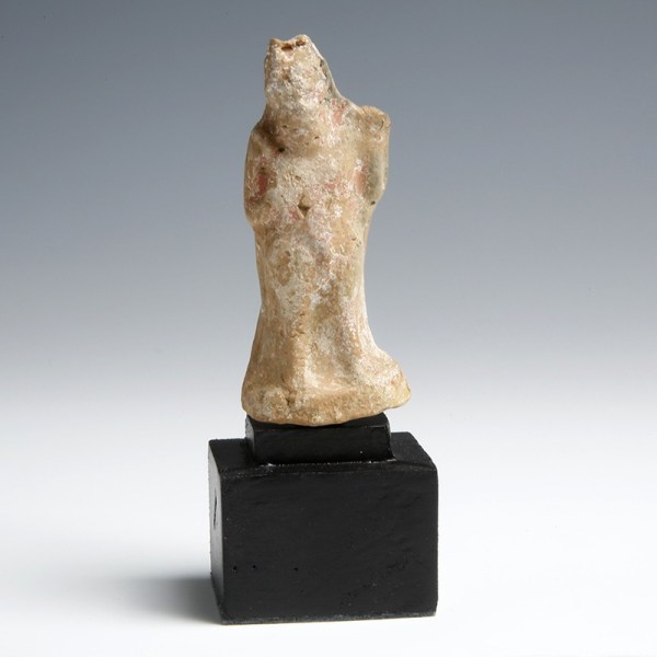 Greek Pottery Figurine Depicting a Satyric Actor
