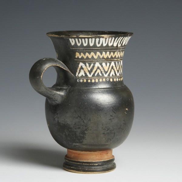 Greek South Italian Pottery Thistle Mug