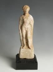 Greek Polychrome Figure of a Youth