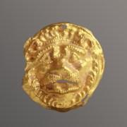 Scythian Lion Head Appliqué