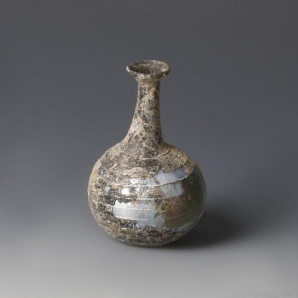 Roman Iridescent Thread Decorated Flask
