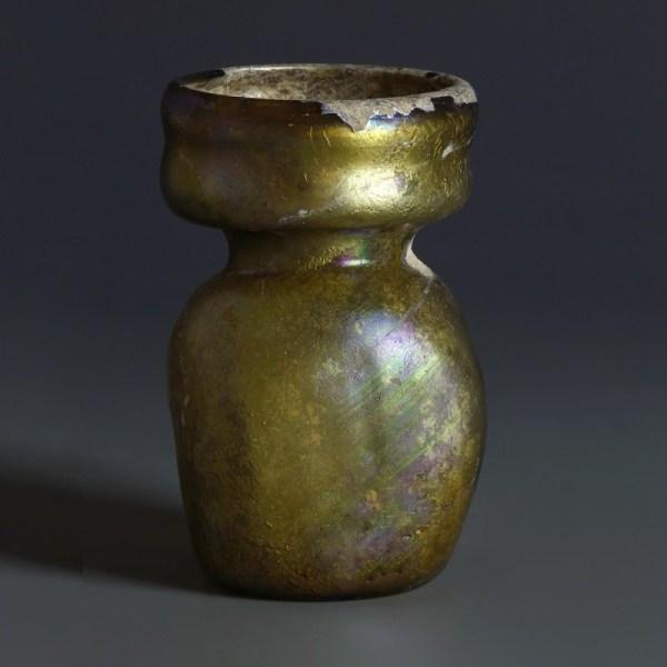 Roman Yellow Glass Collared Jar