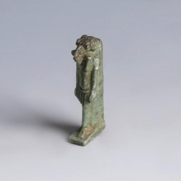 Egyptian Faience Amulet of Khnum