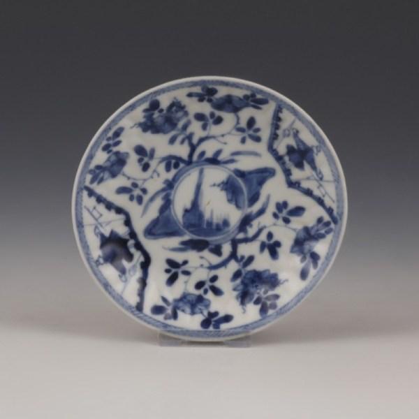 Chinese Kangxi Blue and White Saucer